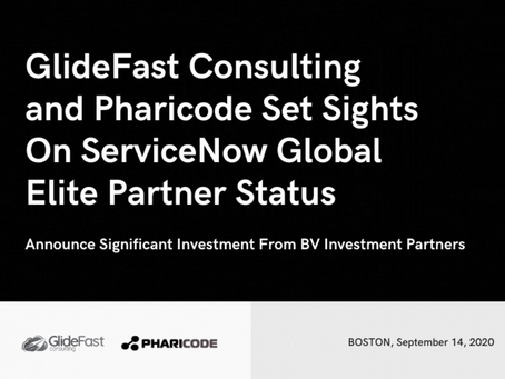 GlideFast Consulting and Pharicode Set Sights on ServiceNow Global Elite Partner Status