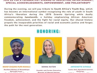 United For Hope Gala 2021: Honoring Donna Katzin, Antoinette Sithole, Bishop Joaquina F. Nhanala