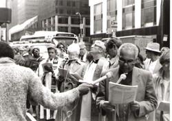 faith community  protests apartheid 1980s