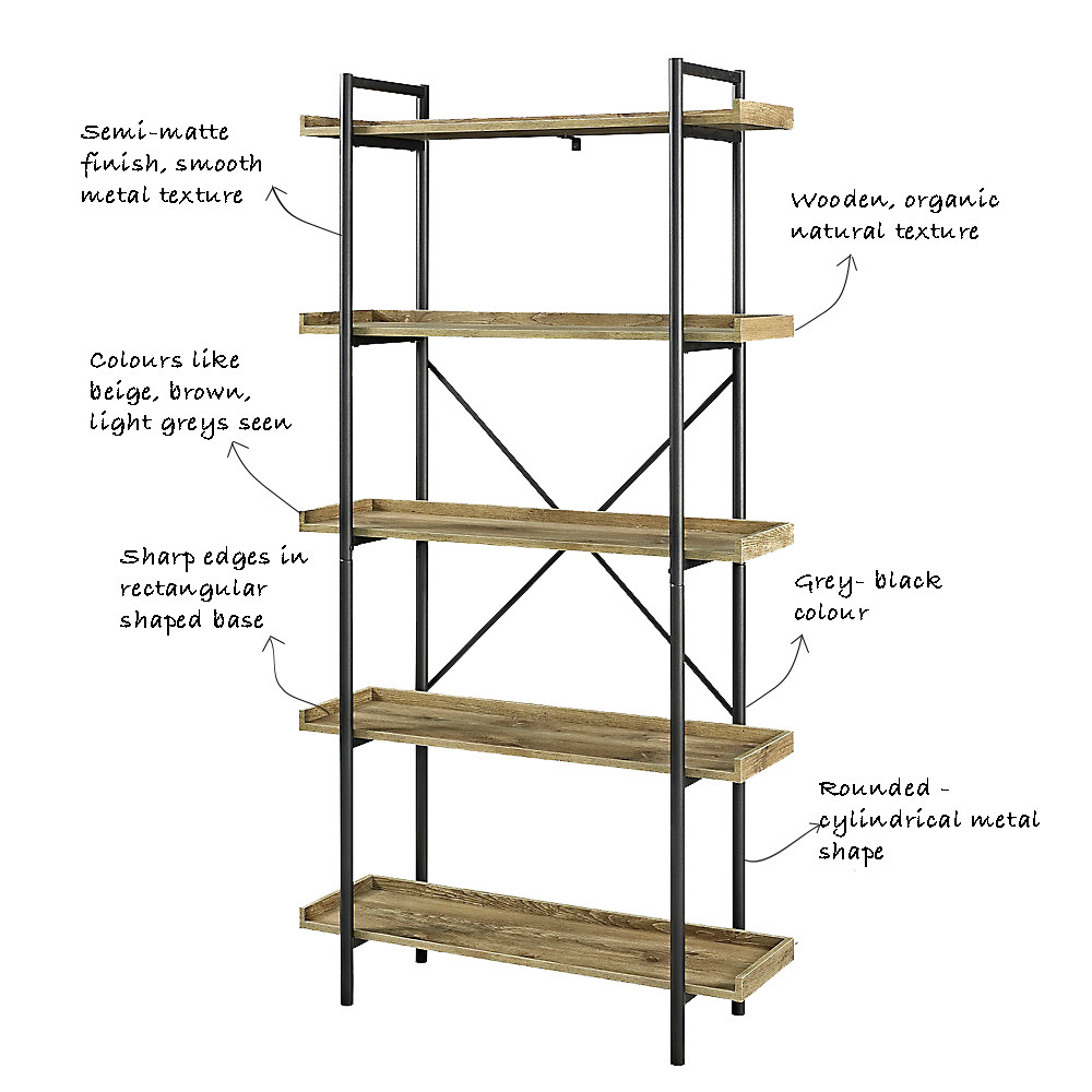 Free- standing open shelf