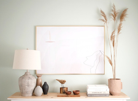 How to Style Mindfully :: A Modern Sideboard