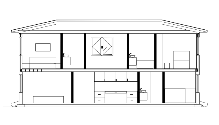 West Elevation/Section