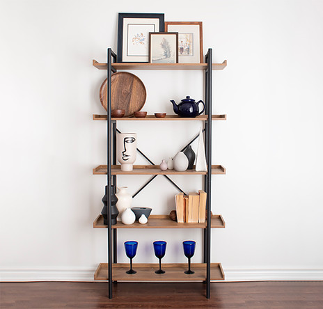 Spring shelf styling