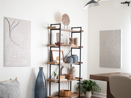 How to Style Mindfully :: Fall Open Shelf Styling
