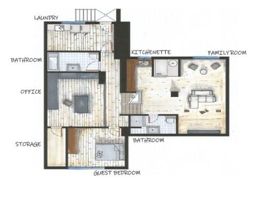 Floor plan - Basements 1 & 2