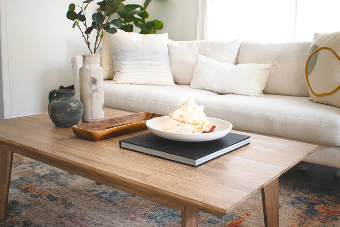Coffee Table Styling :: Earthy & Textural