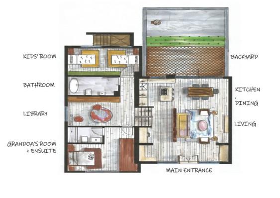 Floor Plan - Main & Upper