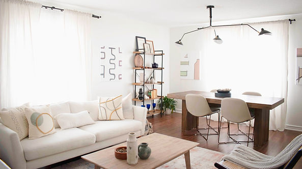 Living Dining Design and styling