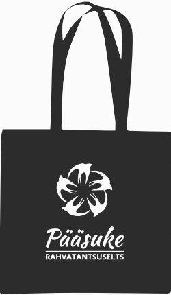 Riidest kott Pääsukese logoga