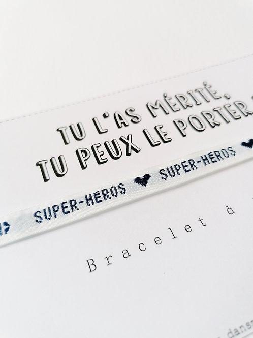 Bracelet à nouer - Super-héros !