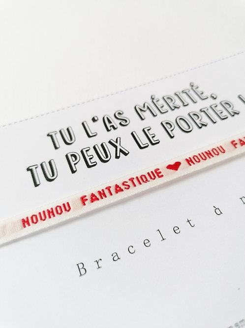 Bracelet à nouer - Nounou fantastique !