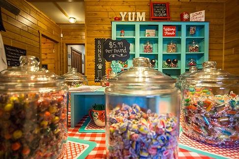 Juls Sweet Shop Close up Bulk Candy with