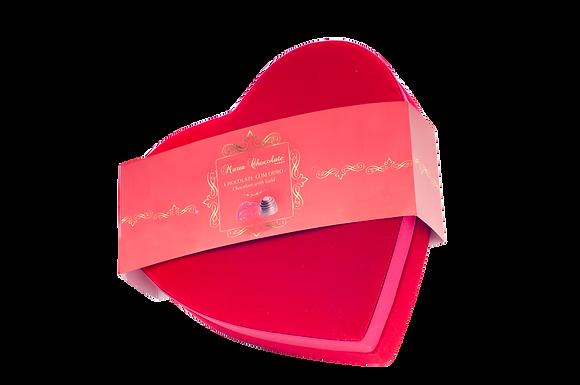 Caixa Prestige Coração - pralinés com ouro (20 bombons)