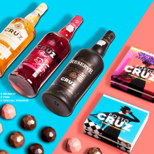 Seleção Especial Vinho do Porto Cruz e Chocolate