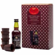 Coffret de Vinho do Porto com copos de chocolate