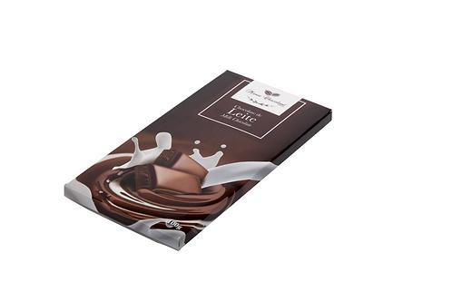 Tablete chocolate de leite e branco