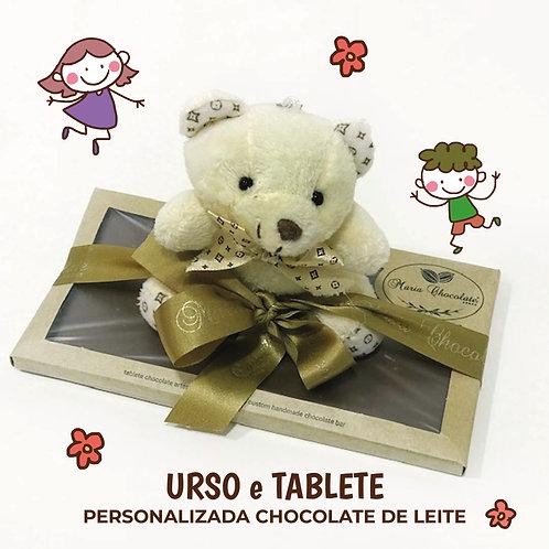 Tablete de chocolate com mini peluche
