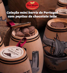 Mini Barris com Pipetas de Chocolate de Leite