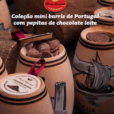 Mini Barris com Pipetas de Chocolate de Leite