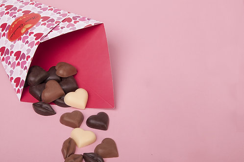 Cone coração de chocolate mix