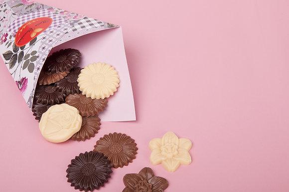 Cone Bouquê Flores de Chocolate