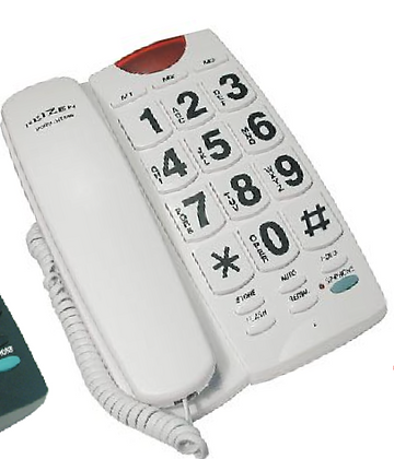 Reizen Big Button Phone (White)
