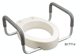 Bolted Toilet Seat Riser w/ Arms