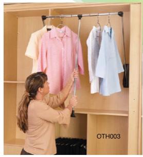 Rev-A-Shelf Pull Down Closet Rod