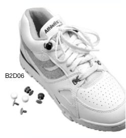 Silver Shoe Buttons