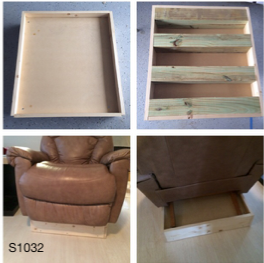 Custom Built Wooden Chair Platform