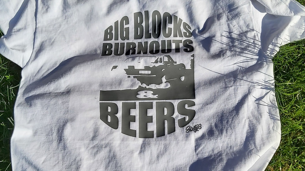Big Blocks-Burnouts & Beers Tee