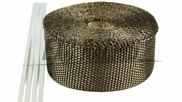 Titanium exhaust heat wrap 10m