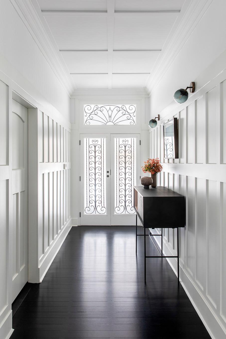 The elegant front door + hallway