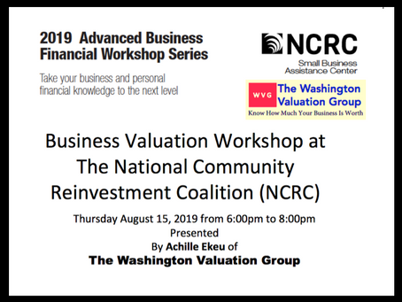 Achille Ekeu Invited At The NCRC Financial Workshop In Washington