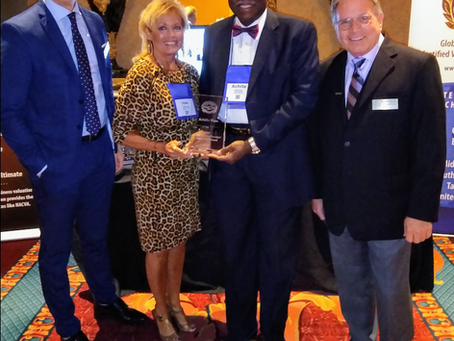 Achille Ekeu Honored at NACVA's Annual Conference in Salt Lake City, Utah