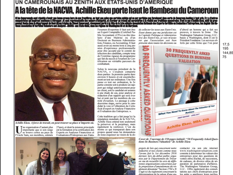 An International Newspaper (Forum Libre) Publishes a Full Page Report about Me (in French)