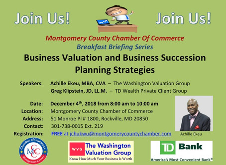 Announcement: Achille Ekeu Invited To Speak To The Montgomery County Chamber Of Commerce