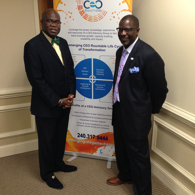 With CEO Andre Smith of EBC