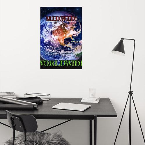 MIDWID WORLDWIDE WALL ART POSTER