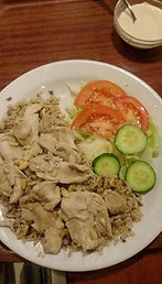 Chicken with rice a la lebanese