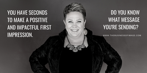 Image Consultant Karyl Eckerle making a positive first impression