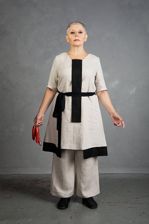 Linen tunic-dress