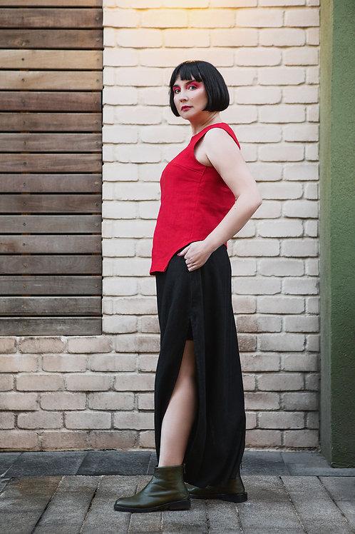 Linen pants/skirt transformer