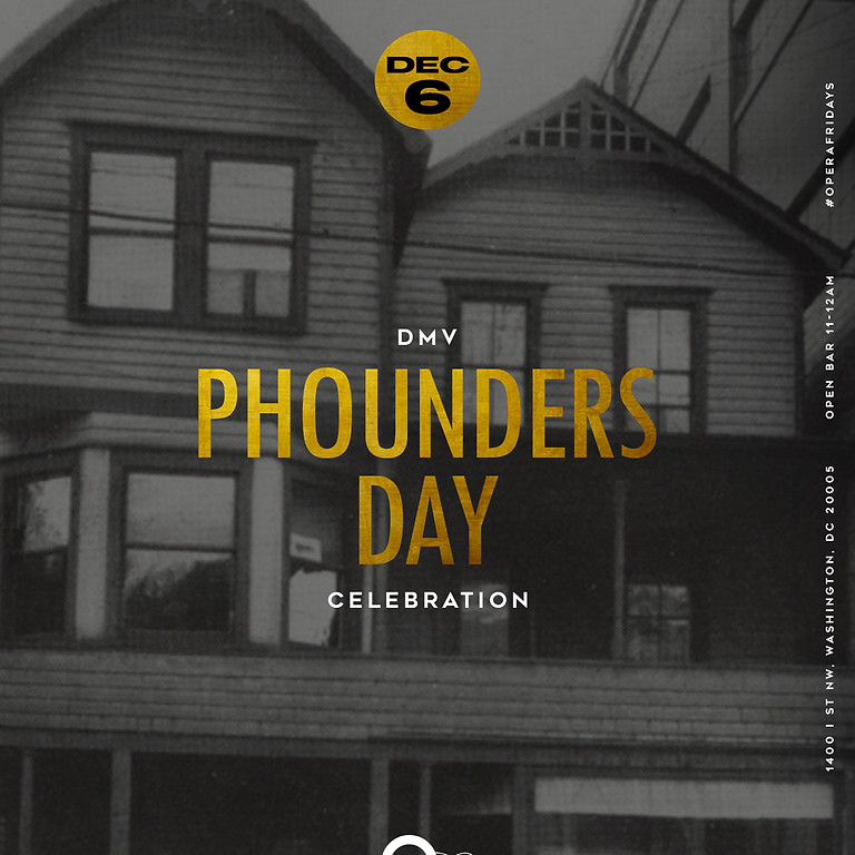 DMV Alphas Phounders' Day Weekend