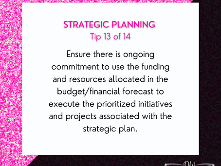 14 Days Of Strategic Planning Tips - Tip #13