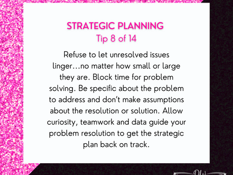 14 Days Of Strategic Planning Tips - Tip #8
