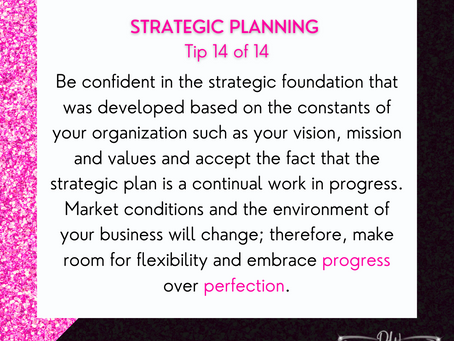 14 Days Of Strategic Planning Tips - Tip #14