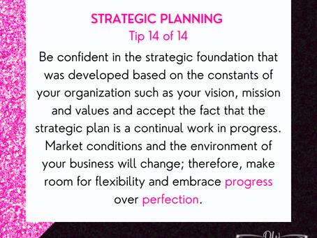 14 Days Of Strategic Planning Tips - Tip #14