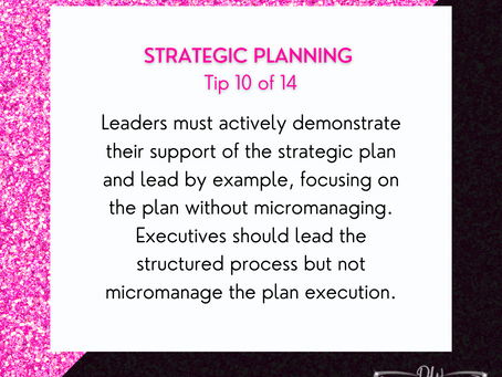 14 Days Of Strategic Planning Tips - Tip #10