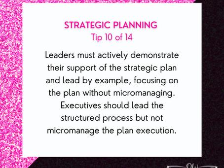 14 Days Of Strategic Planning Tips - Tip #10